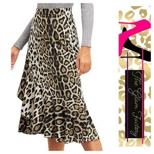 Dresses & Skirts - Cheetah Ruffle Print Skirt